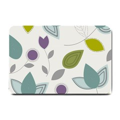 Leaves Flowers Abstract Small Doormat