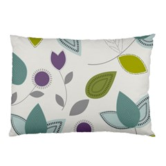 Leaves Flowers Abstract Pillow Case by goodart