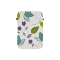 Leaves Flowers Abstract Apple Ipad Mini Protective Soft Cases by goodart