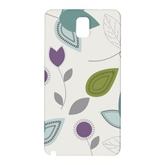 Leaves Flowers Abstract Samsung Galaxy Note 3 N9005 Hardshell Back Case by goodart