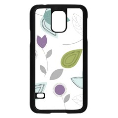 Leaves Flowers Abstract Samsung Galaxy S5 Case (black) by goodart
