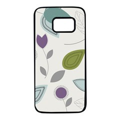 Leaves Flowers Abstract Samsung Galaxy S7 Black Seamless Case by goodart