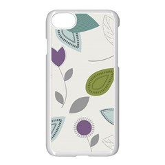 Leaves Flowers Abstract Apple Iphone 7 Seamless Case (white) by goodart