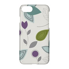 Leaves Flowers Abstract Apple Iphone 8 Hardshell Case