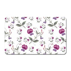 Floral Wallpaper Pattern Seamless Magnet (rectangular)