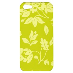 Floral Vintage Wallpaper Pattern Apple Iphone 5 Hardshell Case by goodart