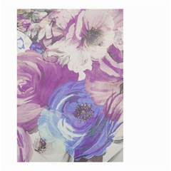 Floral Vintage Wallpaper Pattern Pink White Blue Small Garden Flag (two Sides) by goodart