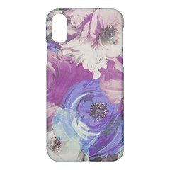 Floral Vintage Wallpaper Pattern Pink White Blue Apple Iphone X Hardshell Case by goodart