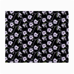 Floral Pattern Black Purple Small Glasses Cloth by goodart