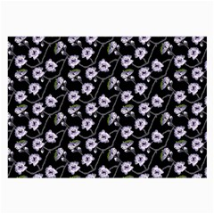 Floral Pattern Black Purple Large Glasses Cloth by goodart