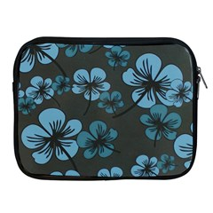 Blue Flower Pattern Young Blue Black Apple Ipad 2/3/4 Zipper Cases by goodart