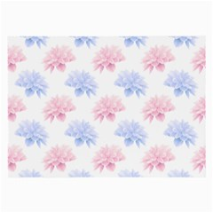 Blue And Pink Flowers Vector Clipart Large Glasses Cloth (2 Side) by goodart