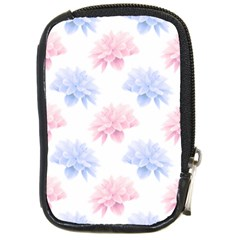 Blue And Pink Flowers Vector Clipart Compact Camera Cases
