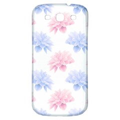 Blue And Pink Flowers Vector Clipart Samsung Galaxy S3 S Iii Classic Hardshell Back Case by goodart
