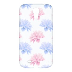 Blue And Pink Flowers Vector Clipart Samsung Galaxy S4 I9500/i9505 Hardshell Case