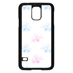 Blue And Pink Flowers Vector Clipart Samsung Galaxy S5 Case (black) by goodart