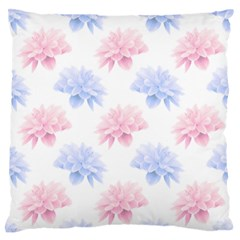 Blue And Pink Flowers Vector Clipart Large Flano Cushion Case (one Side) by goodart