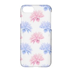 Blue And Pink Flowers Vector Clipart Apple Iphone 7 Hardshell Case