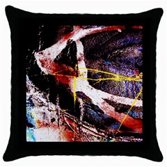 Egg In The Duck   Needle In The Egg 4 Throw Pillow Case (black)