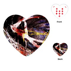 Egg In The Duck   Needle In The Egg 4 Playing Cards (heart)  by bestdesignintheworld