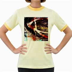 Egg In The Duck   Needle In The Egg 4 Women s Fitted Ringer T Shirts