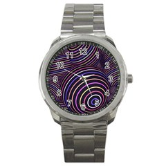 Abtract Colorful Spheres Sport Metal Watch by Modern2018
