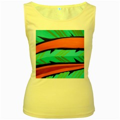 Abstract Art Artistic Women s Yellow Tank Top by Modern2018