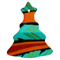 Abstract Art Artistic Christmas Tree Ornament (two Sides) by Modern2018
