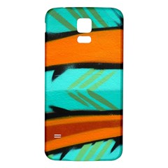 Abstract Art Artistic Samsung Galaxy S5 Back Case (white) by Modern2018
