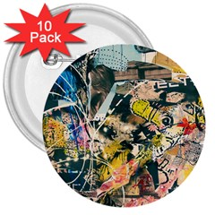 Abstract Art Berlin 3  Buttons (10 Pack)  by Modern2018