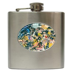 Abstract Art Berlin Hip Flask (6 Oz) by Modern2018