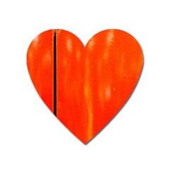 Abstract Orange Heart Magnet by Modern2018