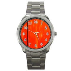 Abstract Orange Sport Metal Watch by Modern2018