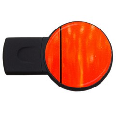 Abstract Orange Usb Flash Drive Round (4 Gb) by Modern2018