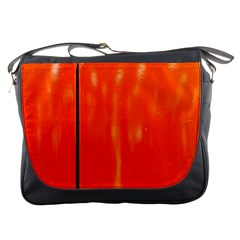 Abstract Orange Messenger Bags by Modern2018