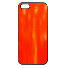 Abstract Orange Apple Iphone 5 Seamless Case (black) by Modern2018