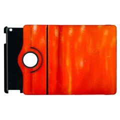 Abstract Orange Apple Ipad 2 Flip 360 Case by Modern2018