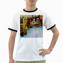 Architecture Art Blue Ringer T-shirts by Modern2018