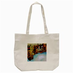 Architecture Art Blue Tote Bag (cream) by Modern2018