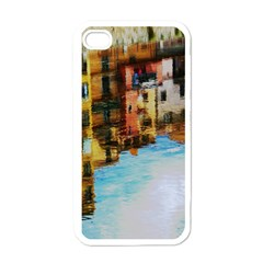 Architecture Art Blue Apple Iphone 4 Case (white) by Modern2018
