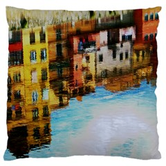 Architecture Art Blue Standard Flano Cushion Case (two Sides) by Modern2018