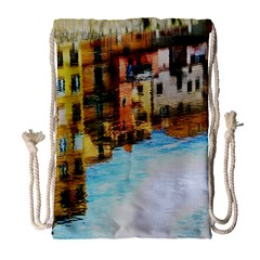 Architecture Art Blue Drawstring Bag (large) by Modern2018