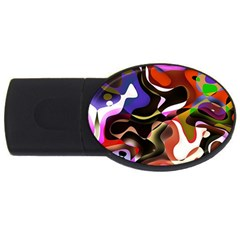 Abstract Full Colour Background Usb Flash Drive Oval (4 Gb) by Modern2018