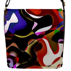 Abstract Full Colour Background Flap Messenger Bag (s) by Modern2018