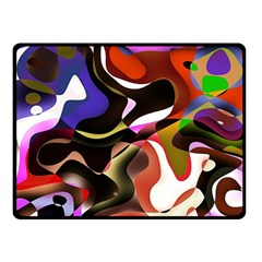 Abstract Full Colour Background Double Sided Fleece Blanket (small)  by Modern2018