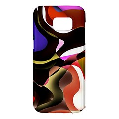 Abstract Full Colour Background Samsung Galaxy S7 Edge Hardshell Case by Modern2018