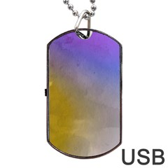 Abstract Smooth Background Dog Tag Usb Flash (two Sides) by Modern2018