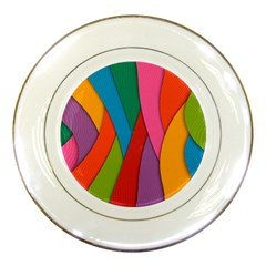 Abstract Background Colrful Porcelain Plates by Modern2018