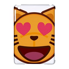 Smiling Cat Face With Heart Shape Apple Ipad Mini Hardshell Case (compatible With Smart Cover) by goodart