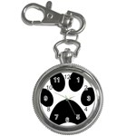 Paw Foot Print Key Chain Watches Front